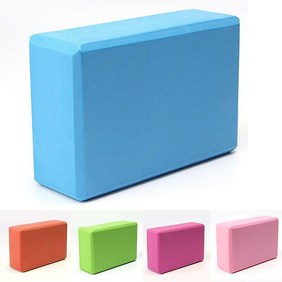 Yoga Block Foam Brick Stretching Aid Gym Pilates For Exercise Fitness Pink/Rose