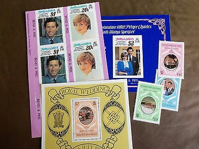 1981 Turks & Caicos Islands. Royal Wedding STAMPS