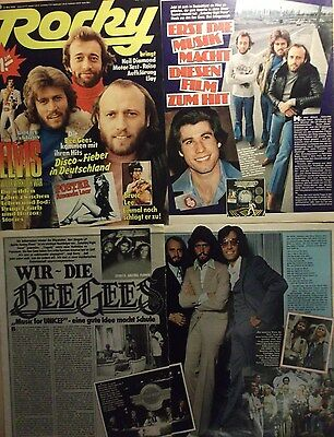 4 german clipping BEE GEES N. SHIRTLESS BARRY ROBIN MAURICE GIBB ANDY BOYS BOY