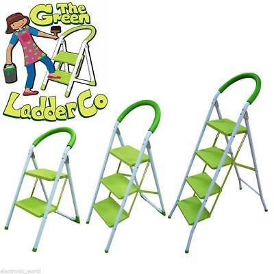 Foldable Kitchen Safety Ladder 2 3 4 Step Non Slip Tread Folding Stepladder Fold