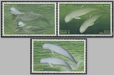 LAOS N°1533/1535 ** Dauphins , 2004 Dolphins Sc#1616/1618 MNH
