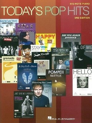 Today's Pop Hits: 3rd Edition - Big Note Piano