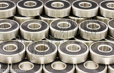 Wholesale Lot of 50pcs. 608-2RS Miniature Rubber Sealed Ball Bearings 608RS RS