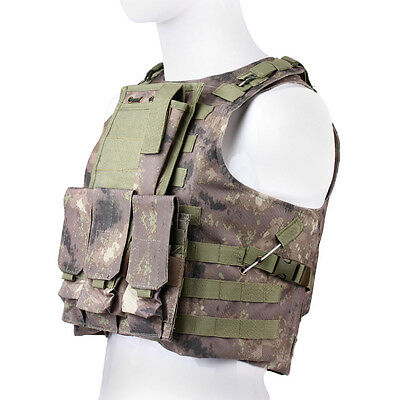 MOLLE Tactical Military Airsoft Swat Combat Chest Rig Plate Carrier Assault Vest