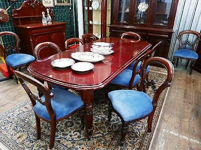 Antique Victorian Style Mahogany Extension Dining Table!   220cm long extended