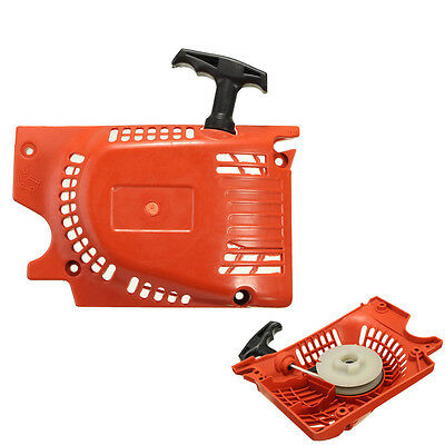 Metal Pull Start Starter Red For Chinese Chainsaw 4500 5200 5800 45cc 52cc 58cc