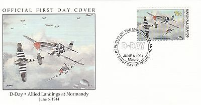 (00591) Marshall Is FDC WWII D-Day Normandy Allied Landings 1994