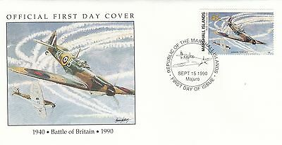 (00597) Marshall Is FDC WWII Battle of Britain 1990