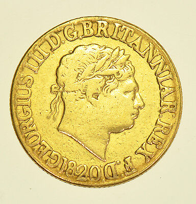 1820 Sovereign, British Gold Coin From George Iii