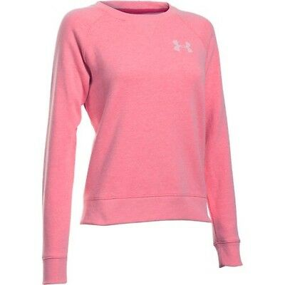 Under Armour 1285239-656 Women's Fleece Crew - Knock Out/White-Large