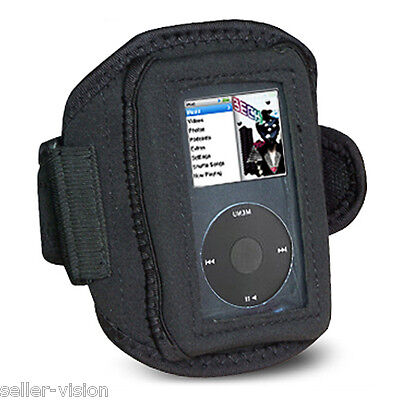 Sport Fitness Armband Cover Case for Apple iPod Classic Black Running Jogging