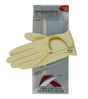 Kasco Ladies Beige Fashion Fit Golf Glove. Medium. Left Hand