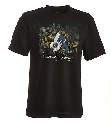 Ju-Sports BJJ-Shirt Ground Warrior schwarz