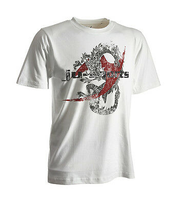 Ju-Sports Dark-Line T-Shirt Dragon weiß