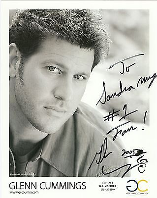 Glenn Cummngs autograph hand signed photo country singer
