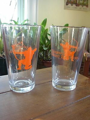 Sherwood Forest Brewery Archer's Ale pint Glasses, set of 2