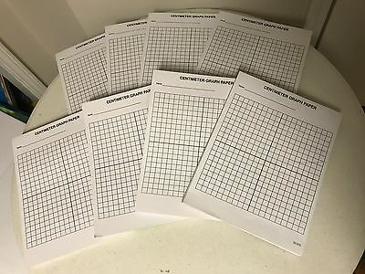 800 Sheets of Centimeter Graph Paper on 8 Pads