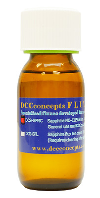 DCC Concepts DCS-SFNC 50ml Bottle Liquid No Clean Soldering Flux Tracked 48 Post
