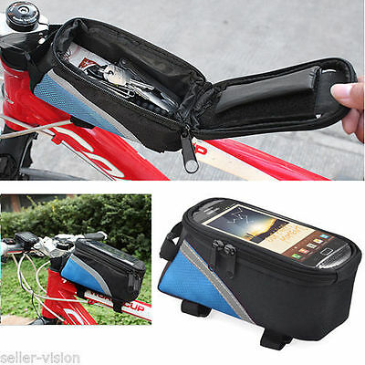 Bike Bicycle Frame Top Tube Bag Mobile Phone Case for iPhone Samsung 5 4S 3GS
