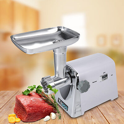 1600W Powerful Electric Stainless Meat Mincer Grinder Sausage Maker UK Plug New