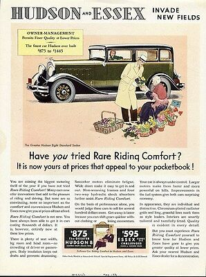 HUDSON 8 and ESSEX Challenger Auto Car Ad 1931 Standard Sedan