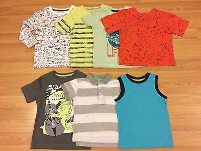 Used Set Of 7 Boys T Shirts - Aged 18 - 24 Months - Mint