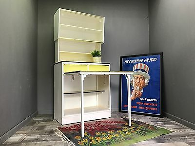 Awesome Retro Kitchen Larder With Extending Table - Vintage Cupboard Cabinet