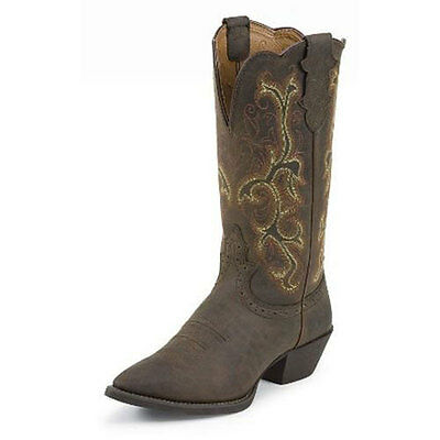 "L2551 Justin Ladies Sorrel Apache 12"" Western Cowboy Boot NEW"