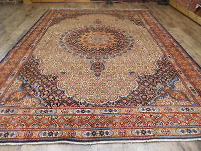 Ca1930 VG DY ANTIQUE PERSIAN BIDJAR MOUD(FISH)TABRIZ 7x10 ESTATE SALE RUG