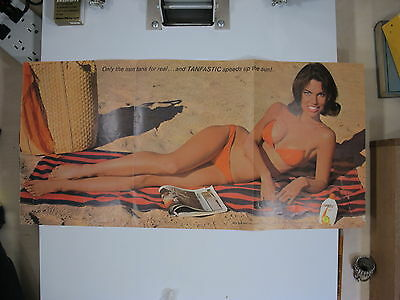 tanfastic suntan lotion ad 3 page playboy college pin up