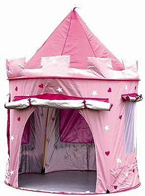 Princess Pop Up Castle Indoor/outdoor Use Girs Pink Toy Play Tent Playhouse Den