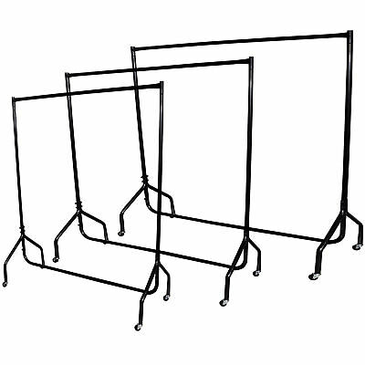 Heavy Duty Garment Clothes Dress Hanging Rail Rack Display Shop Market Wardrobe