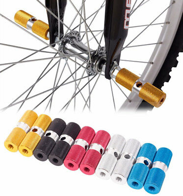 BMX Bicycle Cycle Bike Hexagonal Stunt Pegs Alloy Anodised Colour Wheel Tyre