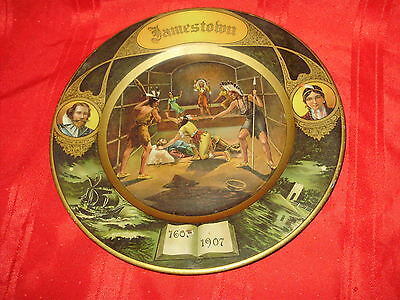 1907 - JAMESTOWN EXPOSITION - Colorful Lithographed Tin Tray