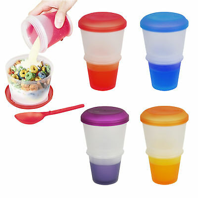 Cereal To Go Milk Breakfast Stay Freeze On The Go Snack Healthy Eat Meal Box