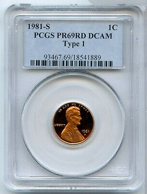 1981-S Proof Lincoln Memorial Cent PCGS PR 69 RD DCAM - Type 1 Certified - MM616