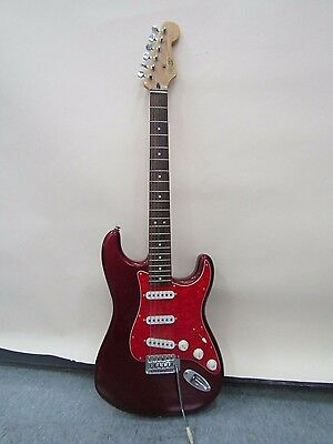 Squier by Fender Red Stratocaster 6-String 21 Fret Electric Guitar Made in India