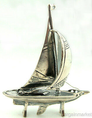 Miniature Sail Boat 925 Sterling Silver  131