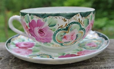 Vintage Hand Painted Beautiful Cup and Saucer