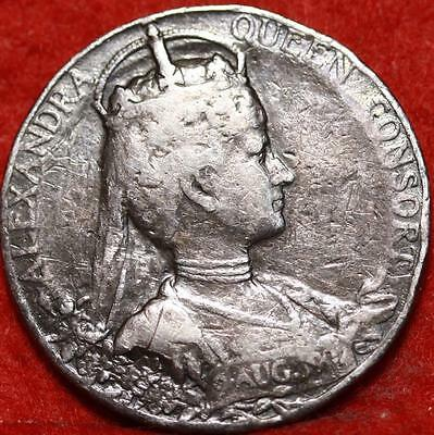 1902 Great Britain Crown Silver Foreign Coin Free S/H