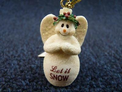 Cute GANZ You Can Personalized Name ANGEL SNOWMAN Ornament