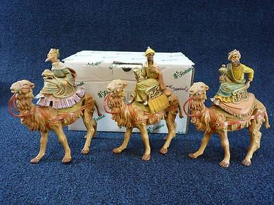 "Fontanini 5"" THREE KINGS ON CAMELS Depose Italy #71514 (a1846)"