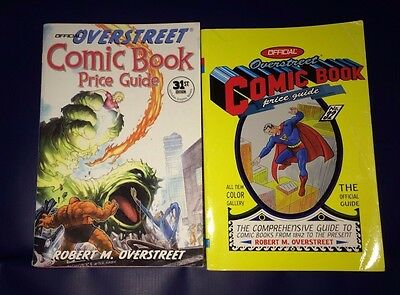 Lot of 2 Overstreet Comic Book Price Guides 31 32 Paperbacks 2001, 2002