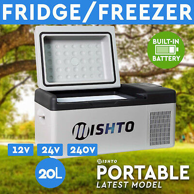 20L Portable Fridge Freezer 12V/24V/240V  Camping Car Boating Caravan Bar Fridge