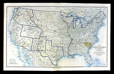 Civil War Map Dec 1860 - United States - Indpendent South Carolina Successionist