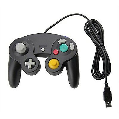 Nintendo USB-Wired Gamecube Style Black Controller for PC/Mac N64 Raspberry Pi