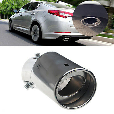 Silver Chrome Stainless Steel Car Rear Round Exhaust Pipe Tail Muffler Tip
