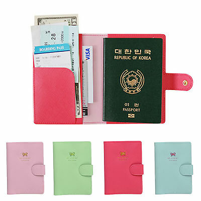 PU Leather Travel Bag Purse Wallet Document Organiser ID Passport Ticket Holder