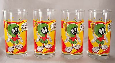 Marvin the Martian Looney Tunes Smuckers Juice Glasses Set of 4