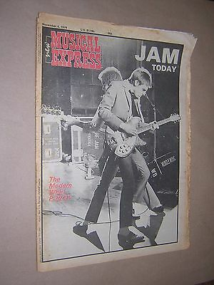 NEW MUSICAL EXPRESS. NME. NOVEMBER 4th 1978. MUSIC MAGAZINE. THE JAM
